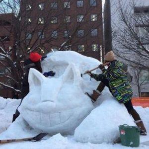 【イベント報告】さっぽろ雪まつり!TKT48チーム北海道で市民雪像作り(北海道新聞取材有)
